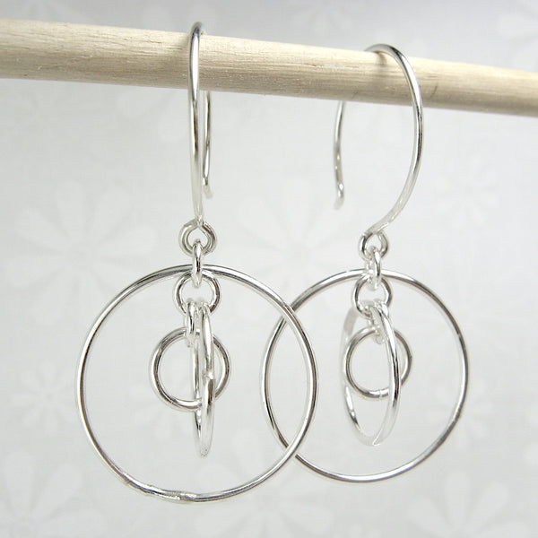Orbit Silver Earrings - Cloverleaf Jewelry