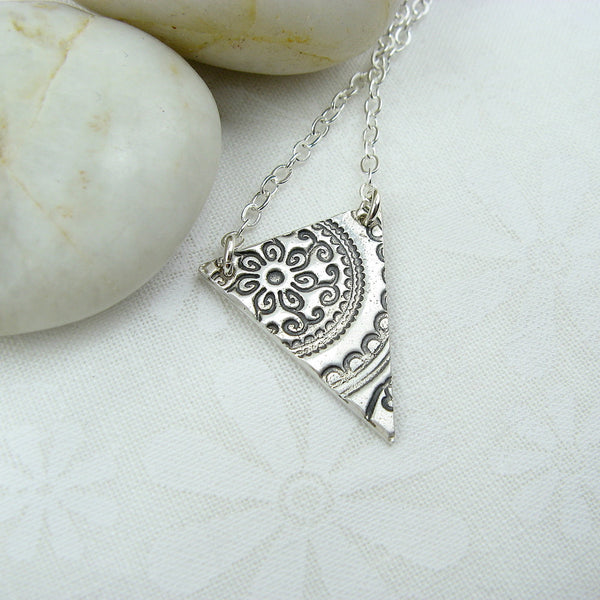 Pennant Silver Necklace - Cloverleaf Jewelry