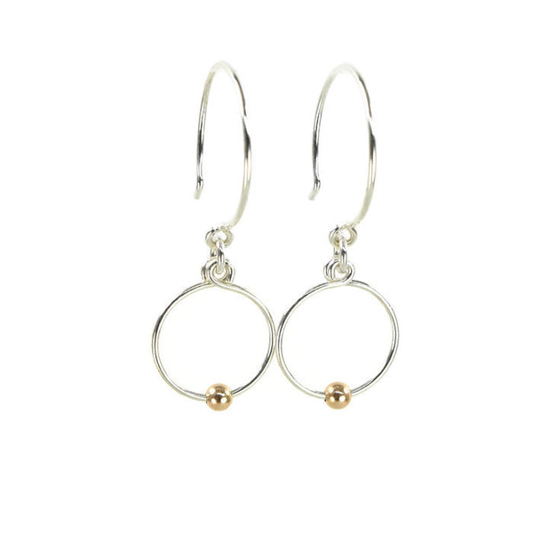 Picot Silver and Rose Gold Earrings - Cloverleaf Jewelry