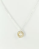 Pod Silver Necklace with Pearl
