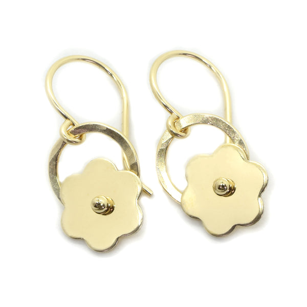 Posy Gold Flower Earrings