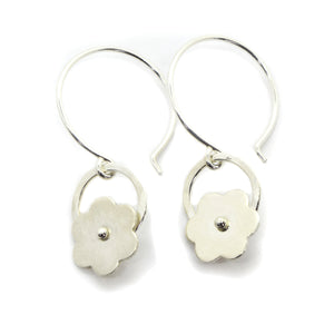 Posy Silver Flower Earrings