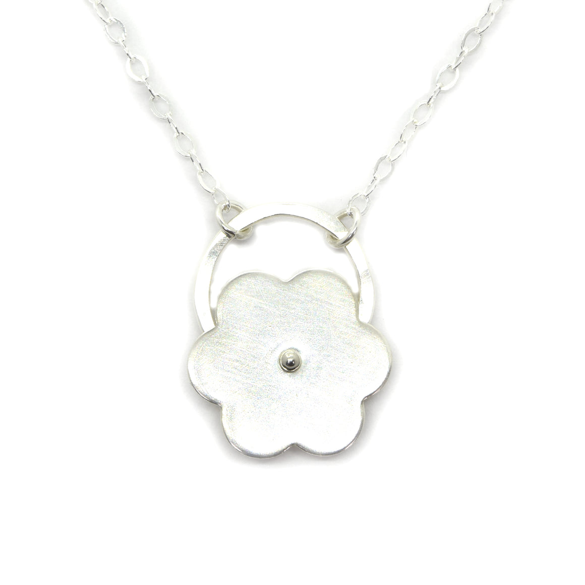 Posy Silver Flower Necklace