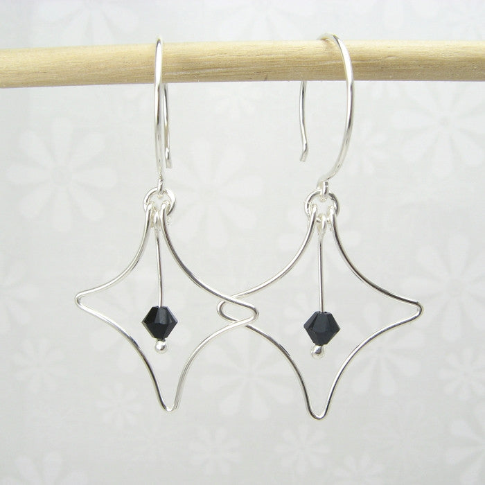 Radiant Silver Earrings