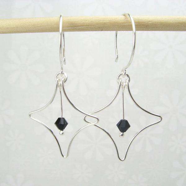 Radiant Silver Earrings - Cloverleaf Jewelry