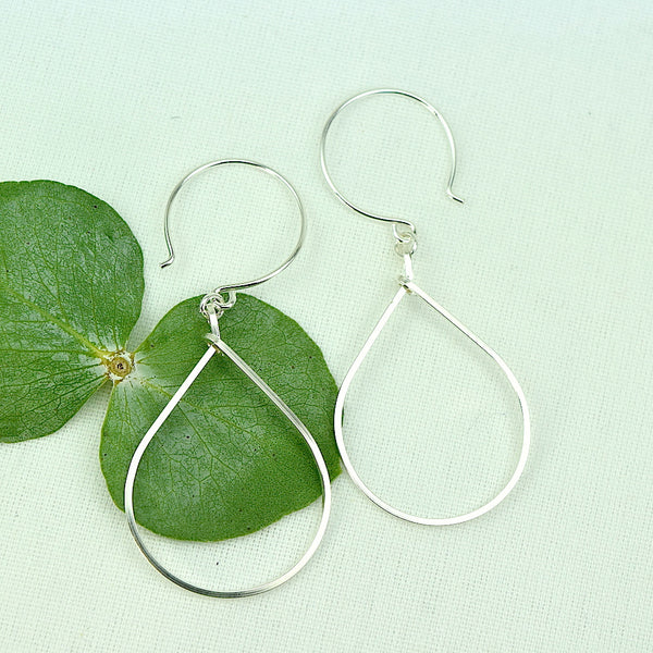 Rain Silver Earrings - Cloverleaf Jewelry