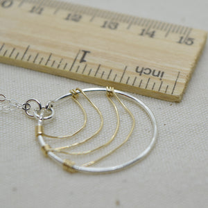Ripple Silver and Gold Necklace