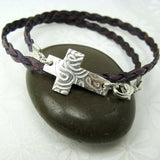Cross Leather Wrap Bracelet - Cloverleaf Jewelry