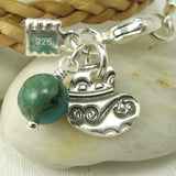 Textured Heart Charm - Cloverleaf Jewelry
