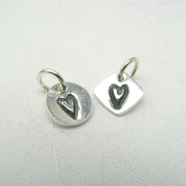 Tiny Heart Charm - Cloverleaf Jewelry