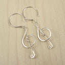 Treble Clef Silver Earrings - Cloverleaf Jewelry