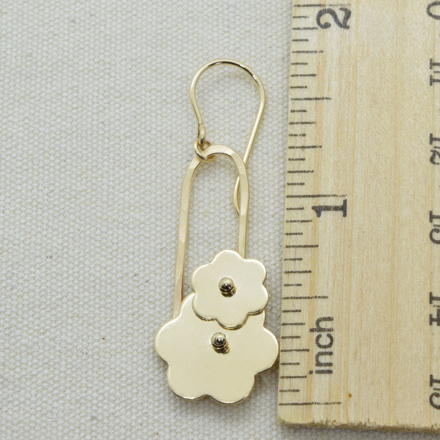 Trellis Gold Flower Earrings