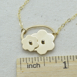 Trellis Gold Flower Necklace