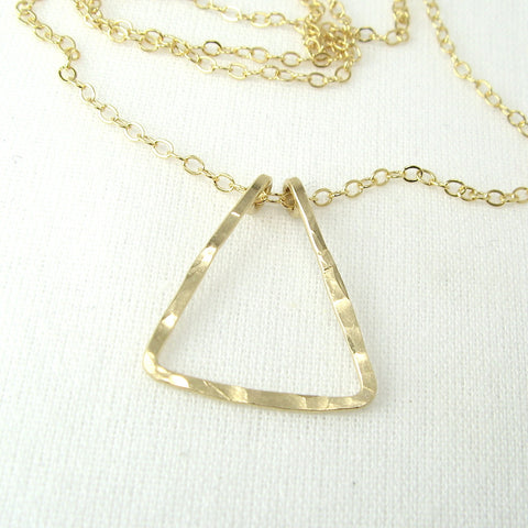Triangle Gold Necklace - Cloverleaf Jewelry