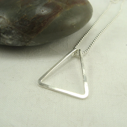 Triangle Silver Necklace - Cloverleaf Jewelry