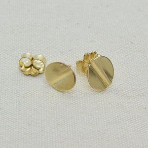 Truly Gold Post Earrings, Oval