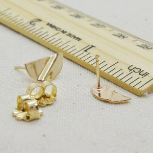 Truly Gold Post Earrings, SemiCircle