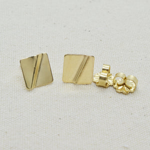 Truly Gold Post Earrings, Square