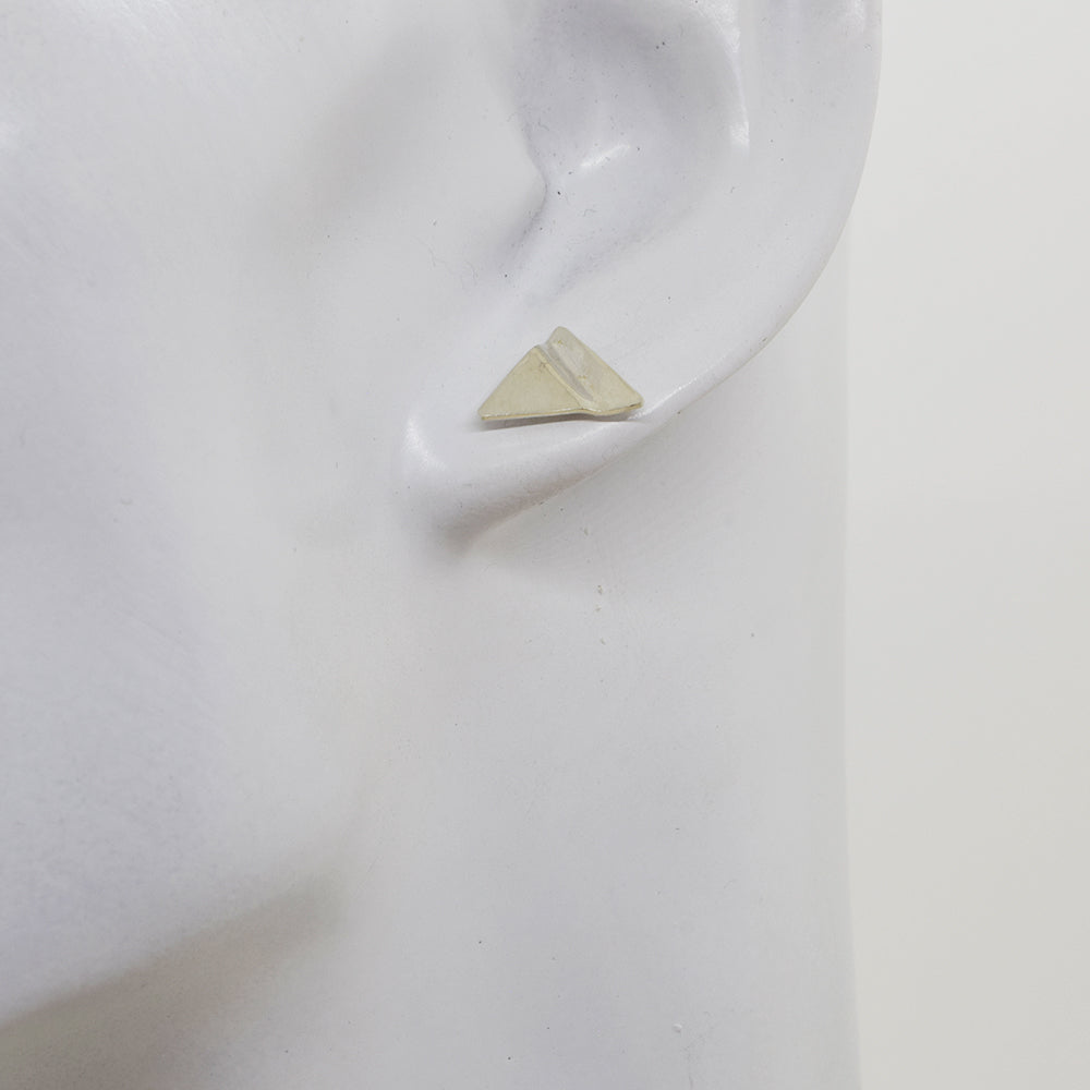 Truly Silver Post Earrings, Triangle - Cloverleaf Jewelry
