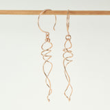 Twirl Rose Gold Earrings