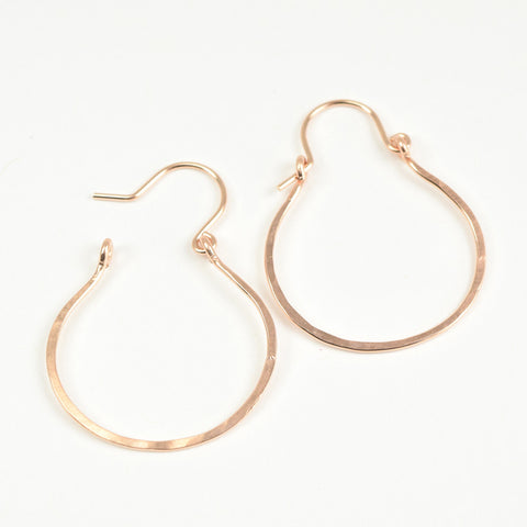 Vale Rose Gold Hoop Earrings - Cloverleaf Jewelry