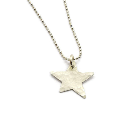 Wish Silver Star Necklace - Cloverleaf Jewelry