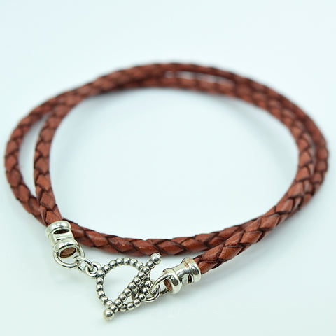 Leather Double Wrap Bolo Bracelet