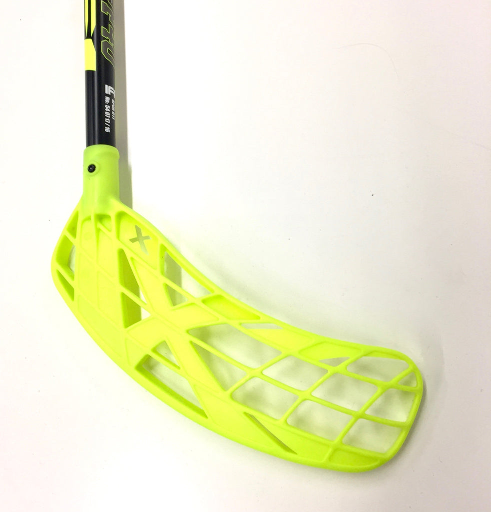 2017 F40 Floorball Stick - Black with Neon Yellow Blade