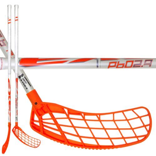2017 P60 Floorball Stick - White with orange Blade