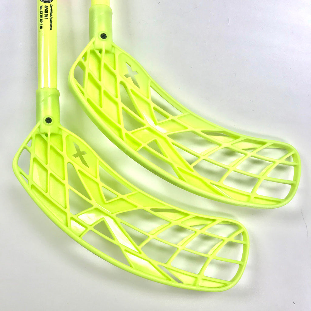 Instastick #1. Neon Yellow Double Curve Floorball Stick