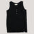 Women's Henley Tank in Black