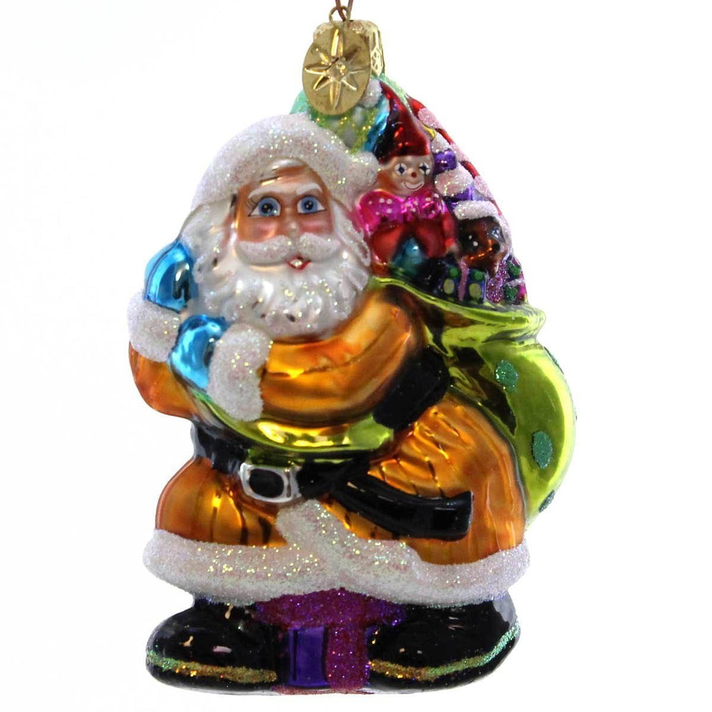Christopher Radko LITTLE BIG NICK Glass Santa Bag Of Toys