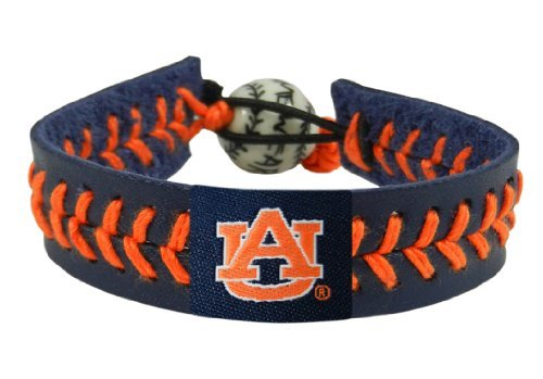 NCAA Auburn Tigers Team Color Baseball Bracelet