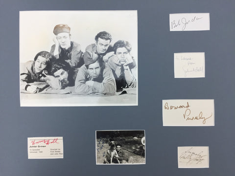 1940 The Dead End Kids Photo Signatures Junior G-Men Huntz Hill