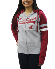 Creative Apparel Women's NCAA Washington State Cougars Sweat Jacket Hoodie