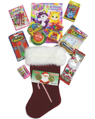 Holiday Christmas Stocking Pre-filled Coloring Book Crayons Jax Cards Flarp YoYo Lipsmacker Chinese Jump Rope for Girls 5 -8