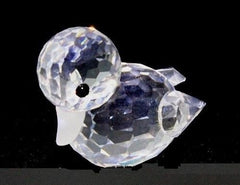 Vintage Swarovski Original Silver Crystal Mini Swimming Duck w/Box COA Retired