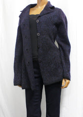 Belvedere Womens Plum Long Sleeve Button Sweatercoat Jacket #6728MYF4 Sz. M NWT