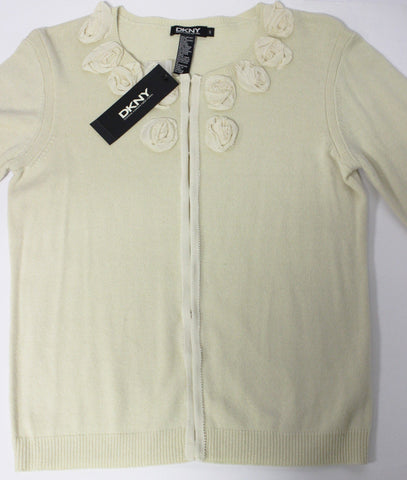 Womens DKNY Donna Karan New York Champagne Cream Knite Sweater  NWT MSRP $160.00