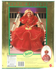 1993 Happy Holidays Barbie Special Edition Poinsetta Red Mattel #10824 NIB