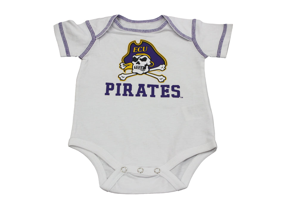 Outerstuff Baby ECU East Carolina University Pirates 3 Piece Creeper Set