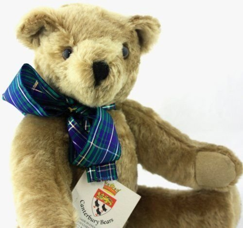 "Canterbury Bear Made in England Jointed Bear  ""Miles""  LE 206/500 Signed w/Tags"