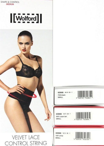 Wolford Shape & Control #90966 Velvet Lace Control String Panty NIB Sz. S  $115