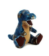 Aurora World T-Rex Plush Dinosaur, Blue, Small Dino roars when you squeeze its tummy!
