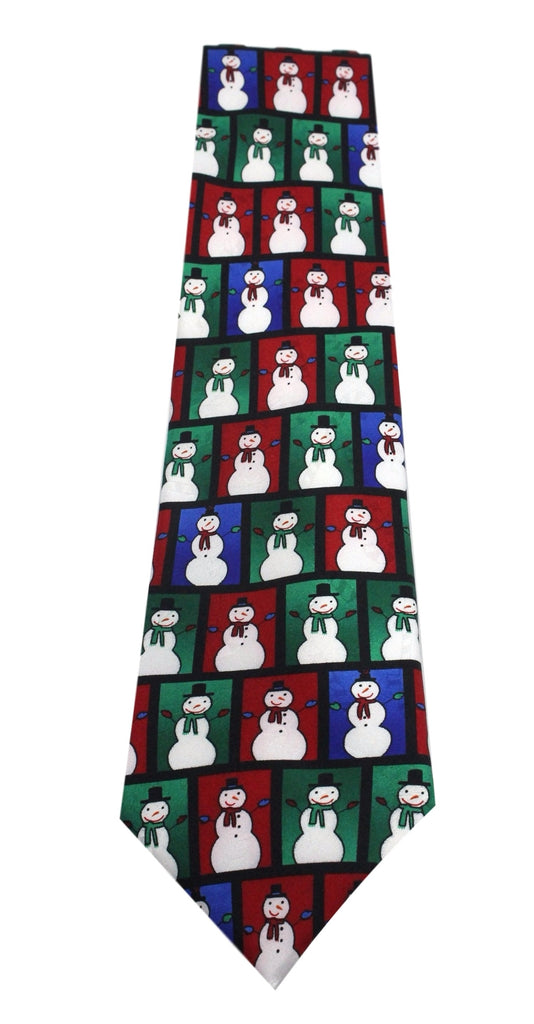 NEW Novelty Polyester Mens Neck Ties Yule Tie Greetings Designs Snowman