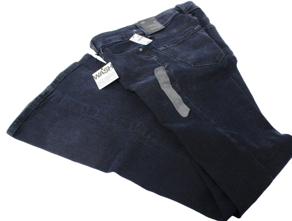 Womens GAP 1969 Mid Rise Modern Flare Stretch Blue Jeans  25R $69