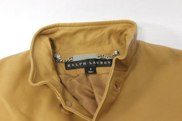 Ralph Lauren Womens Authentic Black Label  Leather  Jacket, Sz. 6 $2498.00