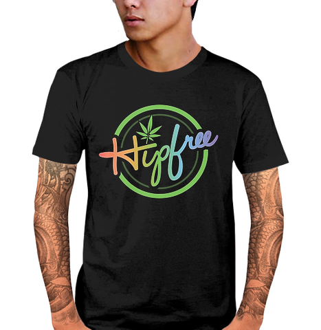 Hipfree Mens Black T Shirt, Size L