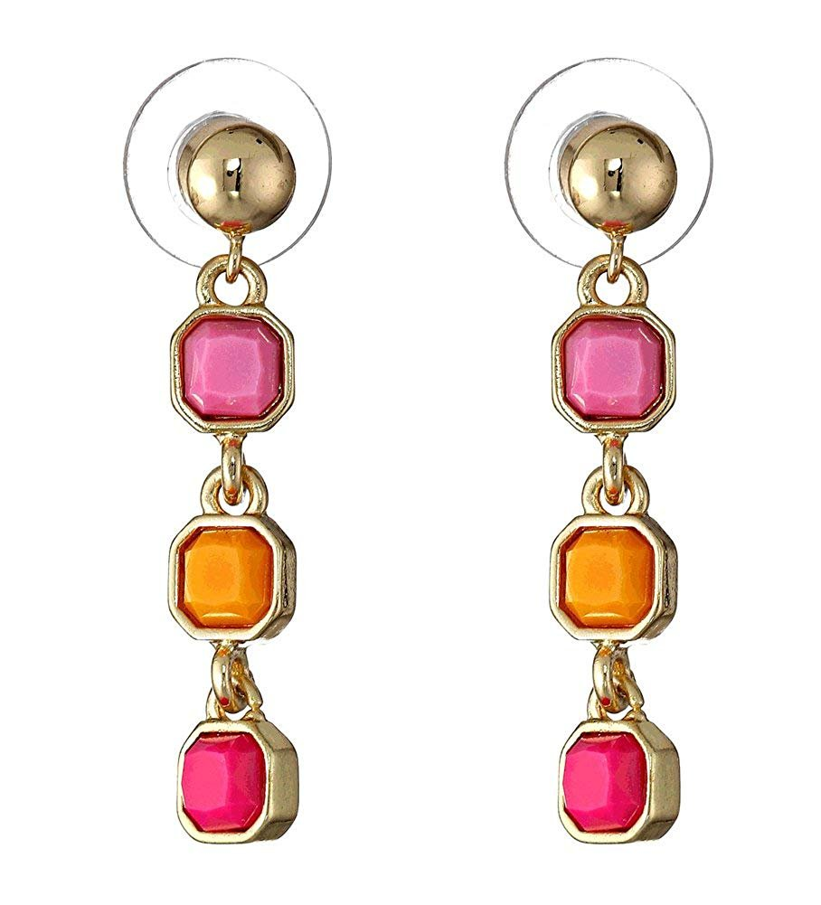 Vera Bradley Colorful Drop Earrings, Ziggy Zinnia