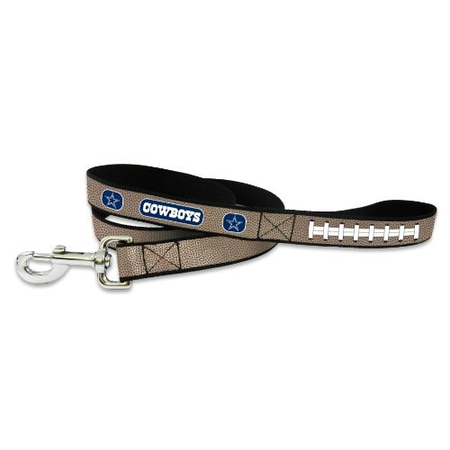 NFL Dallas Cowboys Reflective Football Dog Leash, Small up to 50 lbs